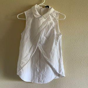 Unique white collared shirt